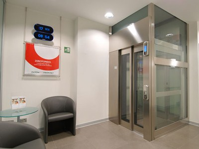 2 Panel, telescopical opening, Big Vision, Inox Satin